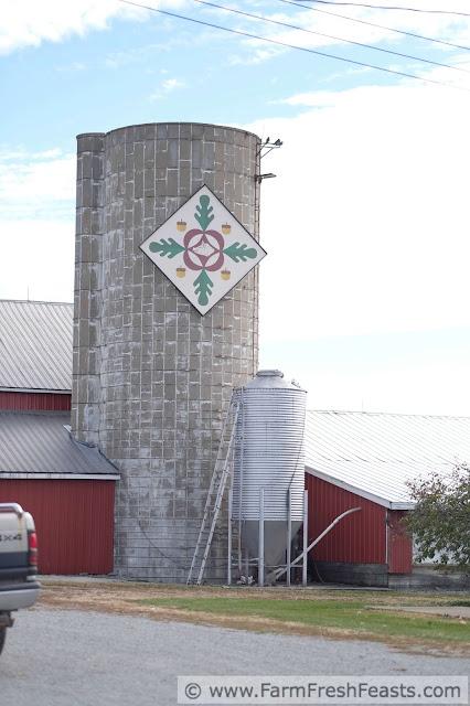 the Oakview Farm Barn Quilt--on a silo