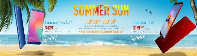 Honor Summer Sun sale discounts View 10, 6X and 7X