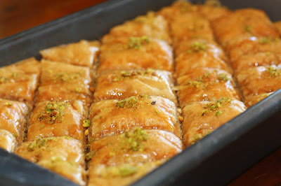 Baklava Recipe in a baking dish