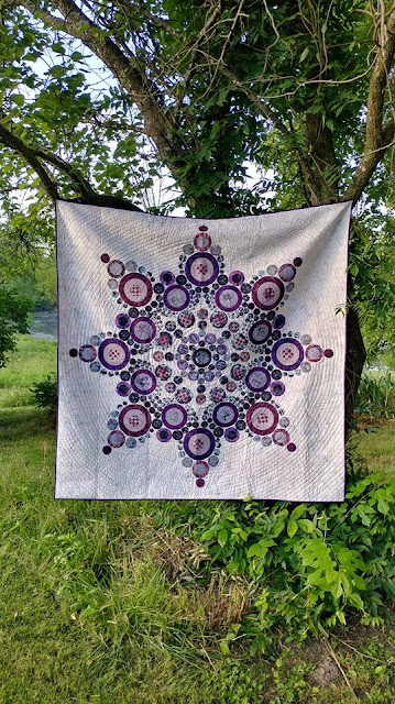 Flurry quilt by Slice of Pi Quilts using Island Batik fabrics