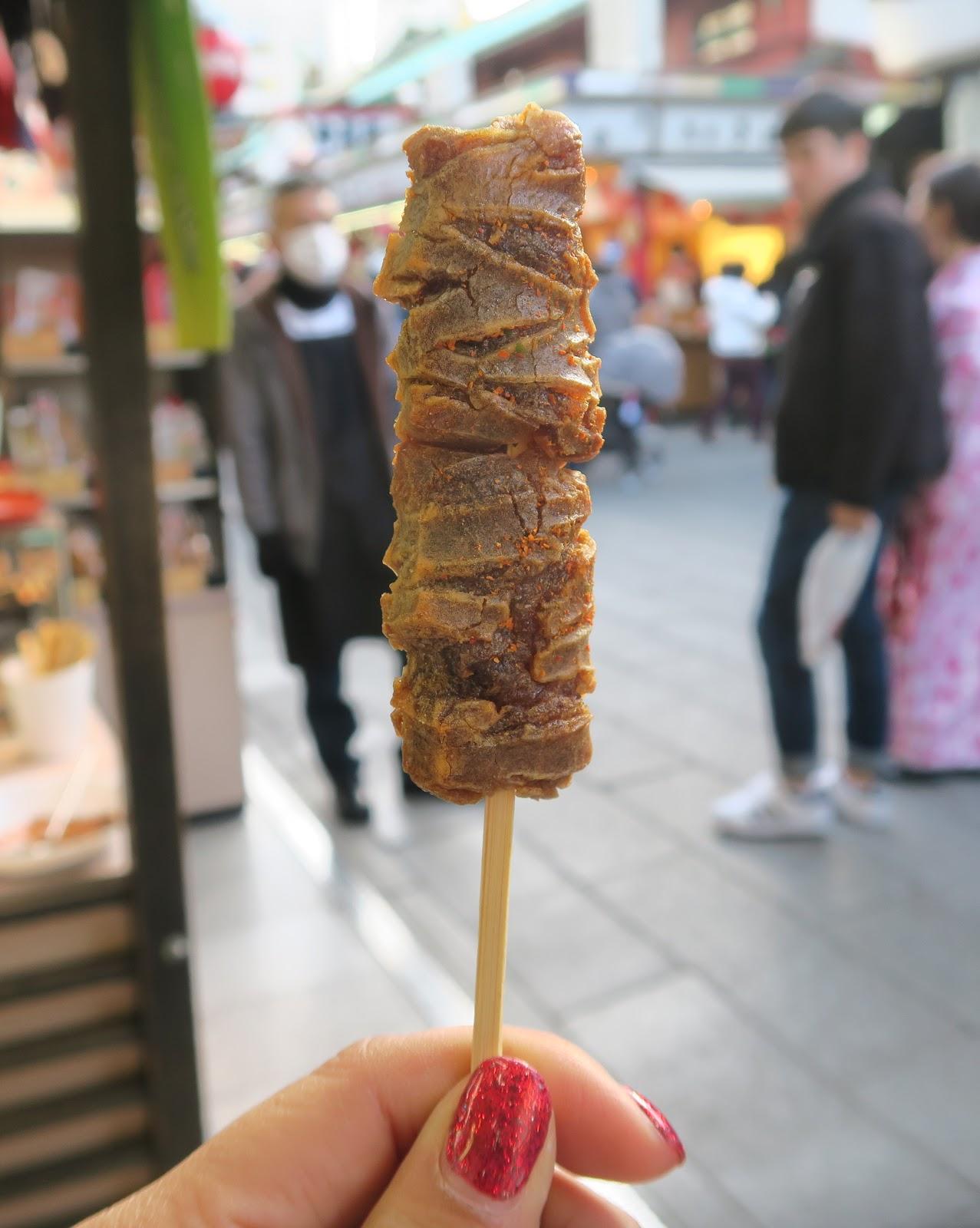 sensoji japan tokyo rice cracker