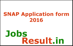 SNAP Application form 2016