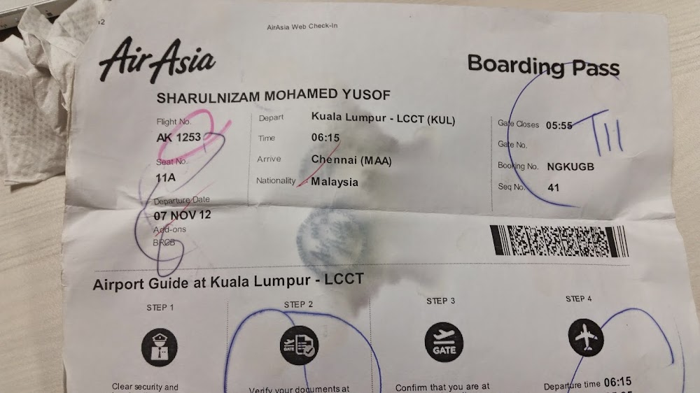 Tiket AirAsia dari Kuala Lumpur ke Chennai