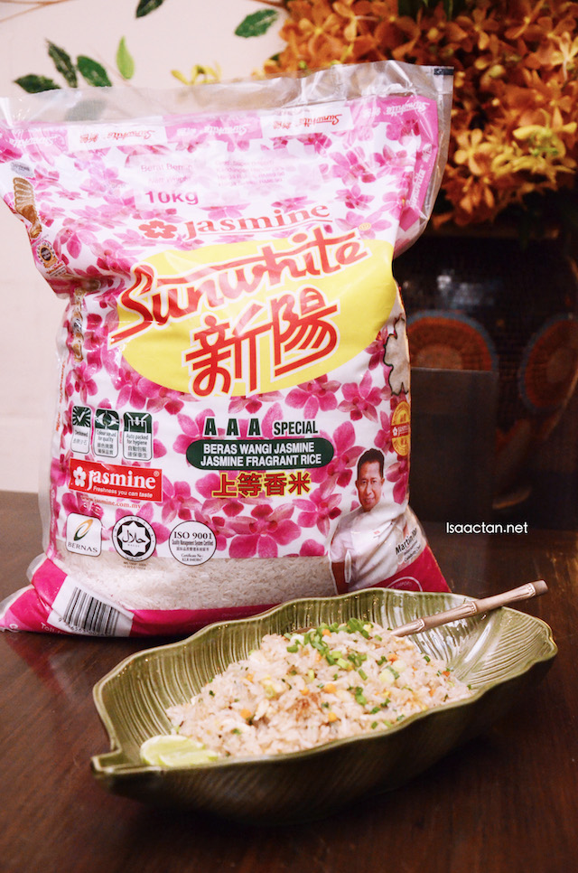 Thai Plain Fried Rice using Jasmine Sunwhite Fragrant Rice
