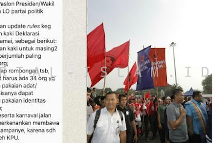TERCYDUK! Karnaval Kampanye Damai, Pendukung Jokowi LANGGAR Peraturan KPU!