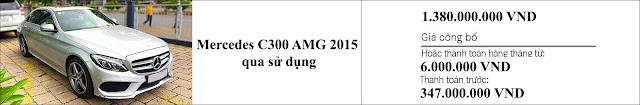 Giá xe Mercedes C300 AMG 2015 hấp dẫn bất ngờ