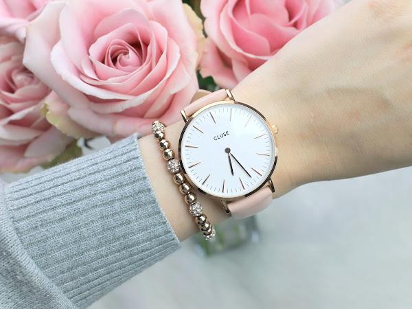 Cluse La Bohème Rose Gold White Pink horloge
