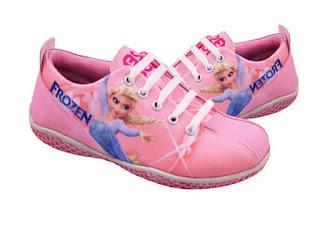 Sepatu Sekolah Anak Perempuan Motif Frozen