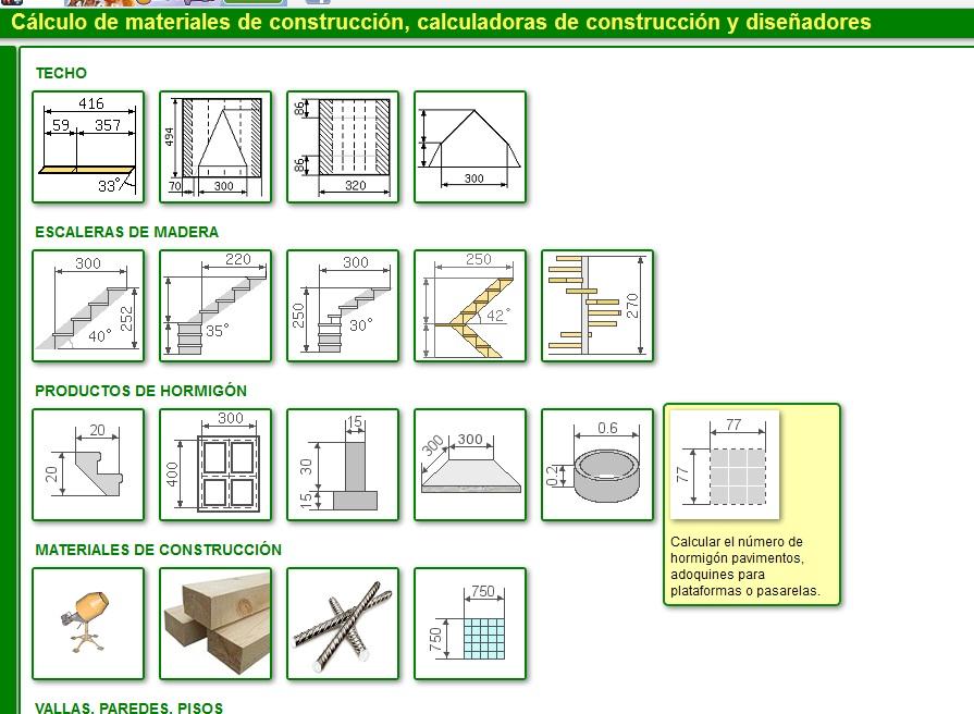 C lculo de materiales de construcci n online civiltotal - Materiales de construccion on line ...