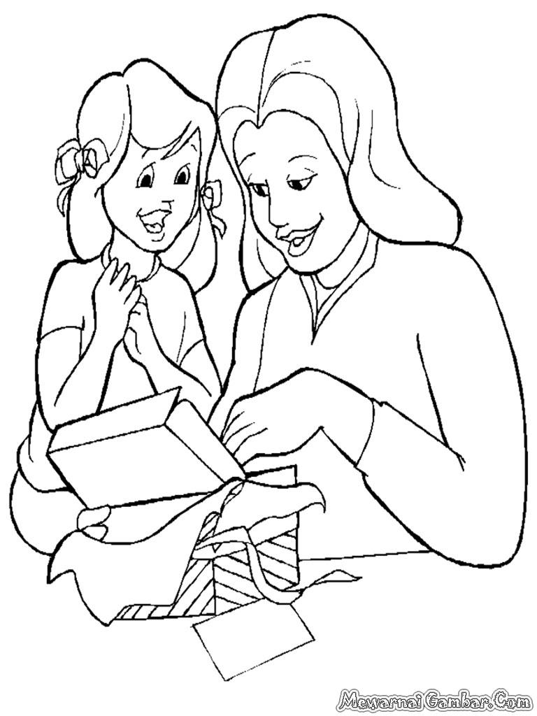 Contoh Gambar Karikatur Anak Natal 7