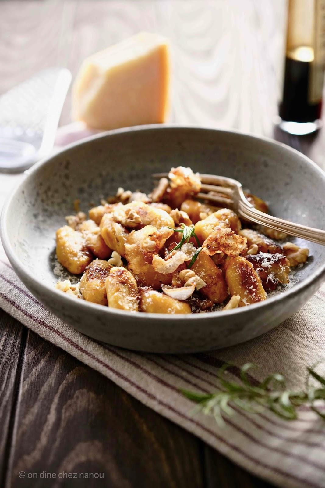 butternut , gnocchis , lard ganciale ; sauge