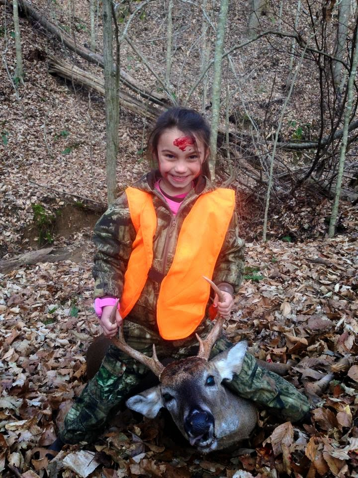 Adriana killed her very first deer a 7 point buck while hunting with