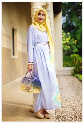 Model Baju Gamis Pesta Muslim Dian Pelangi Modern Terbaru