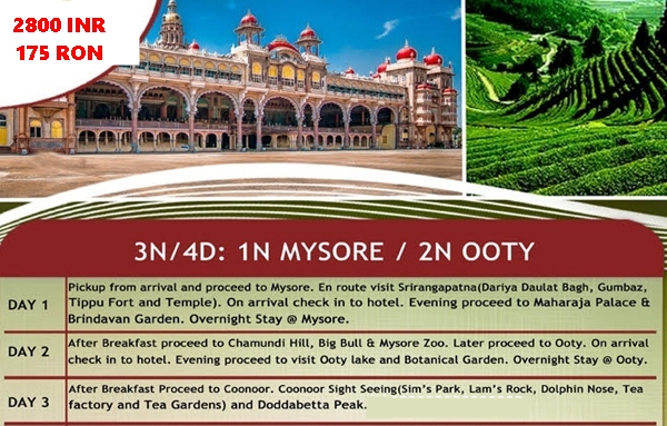 traseu-bangalore--mysore-ooty-coonnor