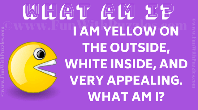 I am yellow on the outside, white inside, and very appealing. What am I?