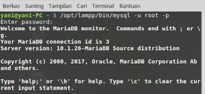 membuat database & tabel pada terminal linux belajar pemrograman dengan linux linux sistem operasi open source halal database server terminal linux membuat database di linux membuat tabel pada linux membuat database pada terminal membuat tabel pada terminal cara mudah belajar database