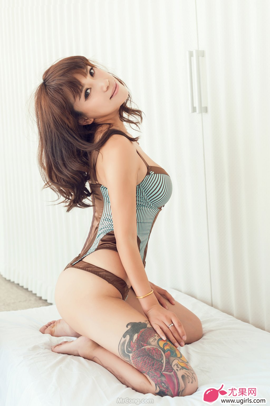 Image MrCong.com-UGIRLS-020-Tian-Yi-Yi-010 in post Người đẹp Tian Yi Yi (田依依) khoe ngực trần sexy trong bộ ảnh UGIRLS 020