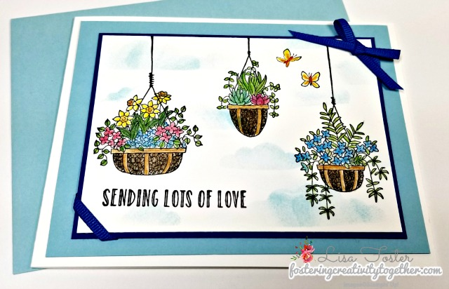 Hanging Garden, Watercolor and blender pens, Love and Support, Stampin' Up!