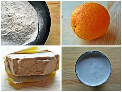 Zdrowe drożdżowe z pomarańczową nutą - Składniki