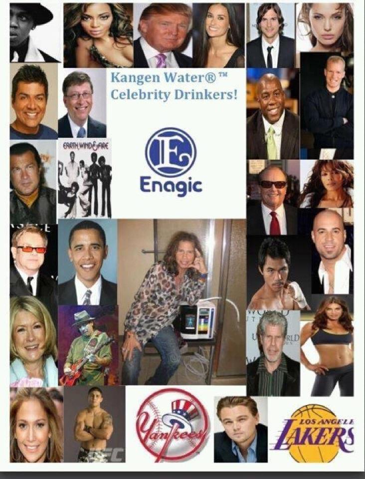 Kangen Water Celebrities Who Are Drinking Kangen Water