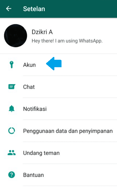Setting Akun whatsapp