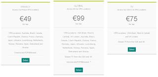 harga dan rencana dari Black VPN