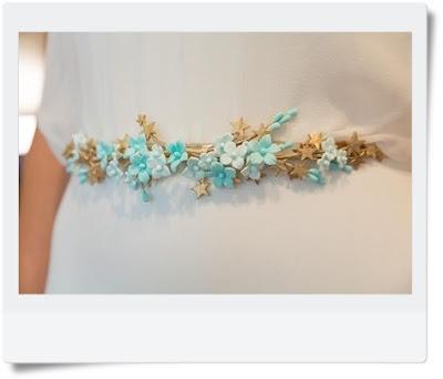 cinturon flores porcelana