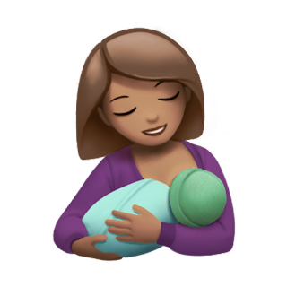 Breastfeeding Apple Emojis for 2017