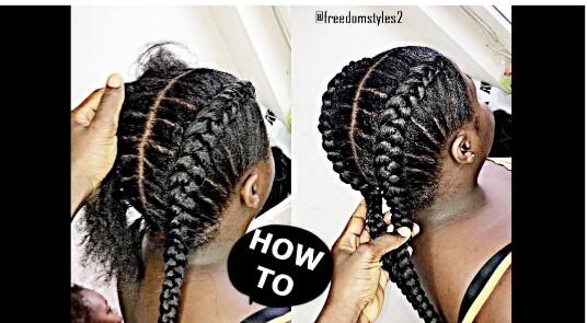 steps cornrow hair