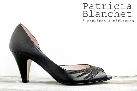 Patricia Blanchet escarpins Bandini noir