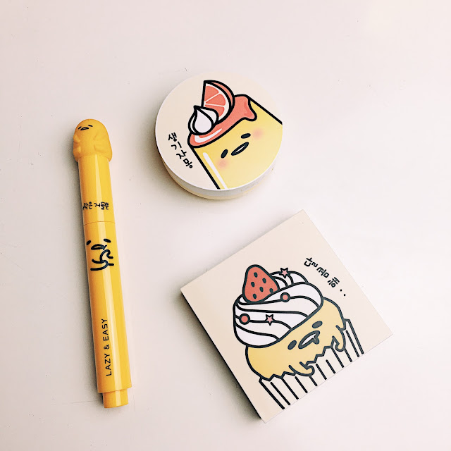Holika Holika x Gudetama Lazy & Easy Collection review swatches