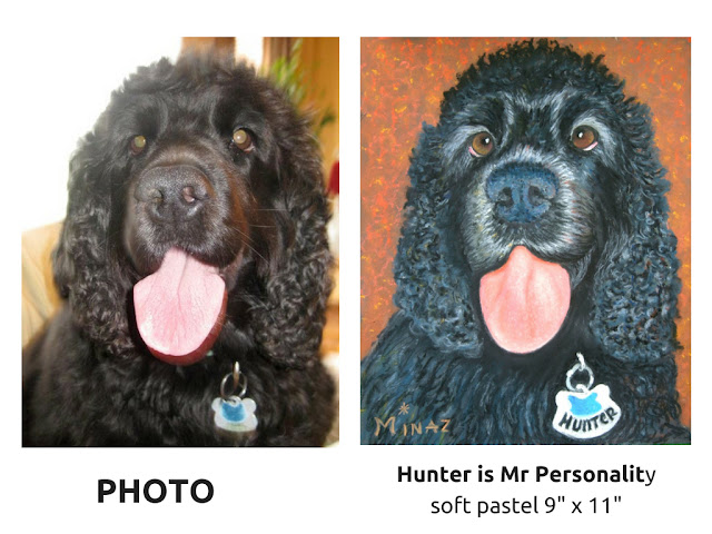 Pet Portraits: Hunter is Mr Personality by Minaz Jantz
