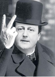 "David Cameron says, ""F**k you"""