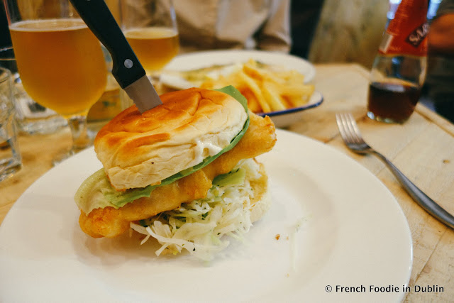 Fish burger at Fish Shop Dublin - French Foodie in Dublin