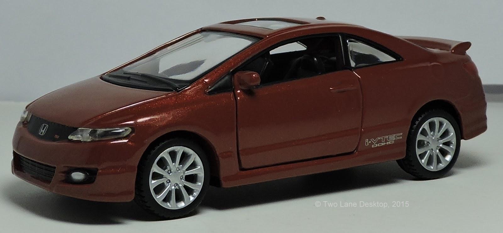 two lane desktop maisto 1 43 power racer 2010 honda civic si coupe. Black Bedroom Furniture Sets. Home Design Ideas