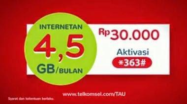Daftar Cepat Paket Telkomsel Flash 4 GB 30 ribu