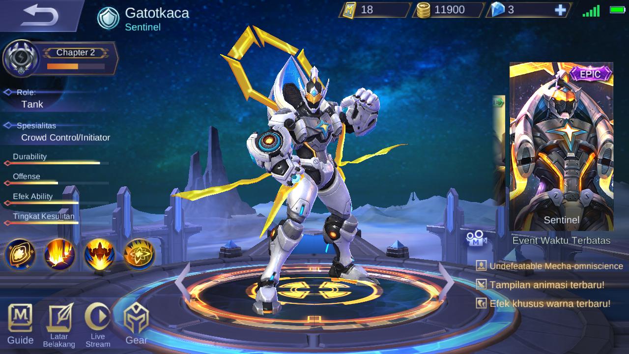 Gear Gatotkaca Terkuat Mobile Legends 5