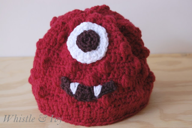 Free Crochet Pattern - Muno from Yo Gabba Gabba Toddler Beanie {Pattern by Whistle and Ivy}