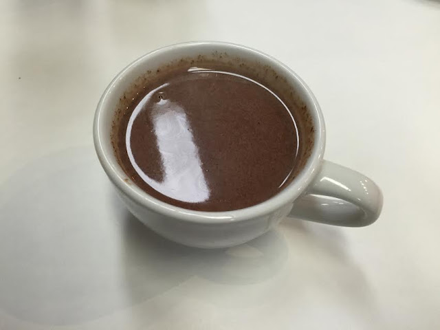Decadent hot chocolate made from freshly melted chocolate from Heart of Europe Cafe in Barrington