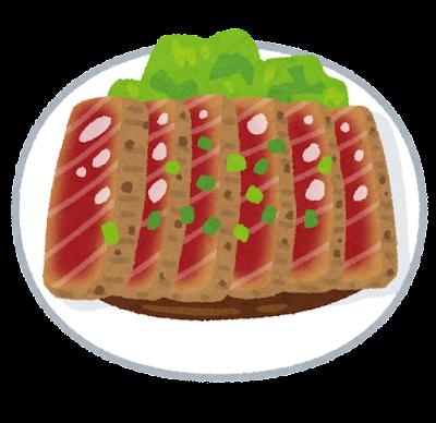 マグロステーキのイラスト