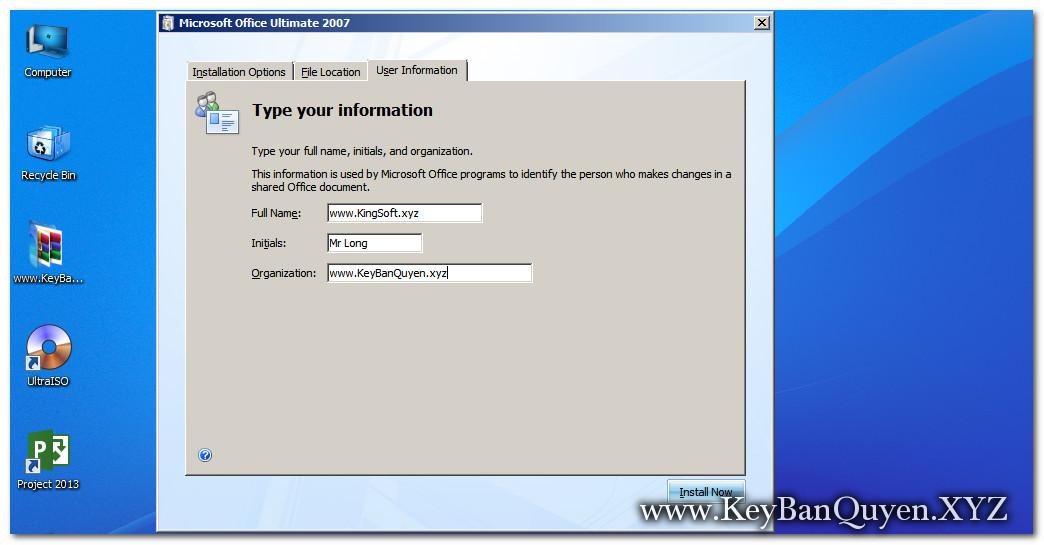 Hướng dẫn cài đặt Microsoft Office Enterprise 2007