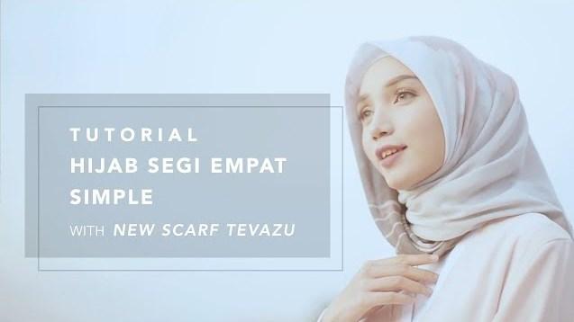 Tutorial Hijab Motif Segi Empat Simpel