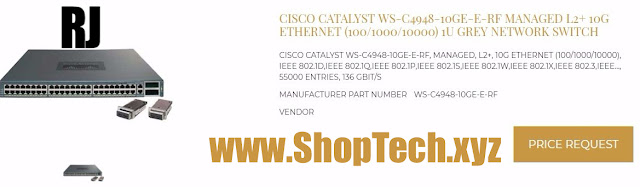 CISCO CATALYST WS-C4948-10GE-E-RF MANAGED L2+ 10G ETHERNET (100/1000/10000)