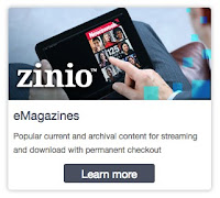 Zinio app on tablet