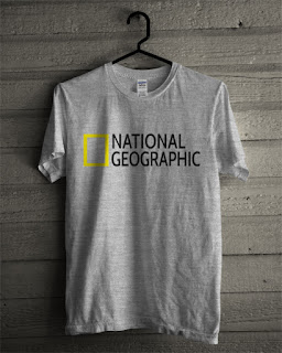 Baju Kaos National Geographic Warna Grey
