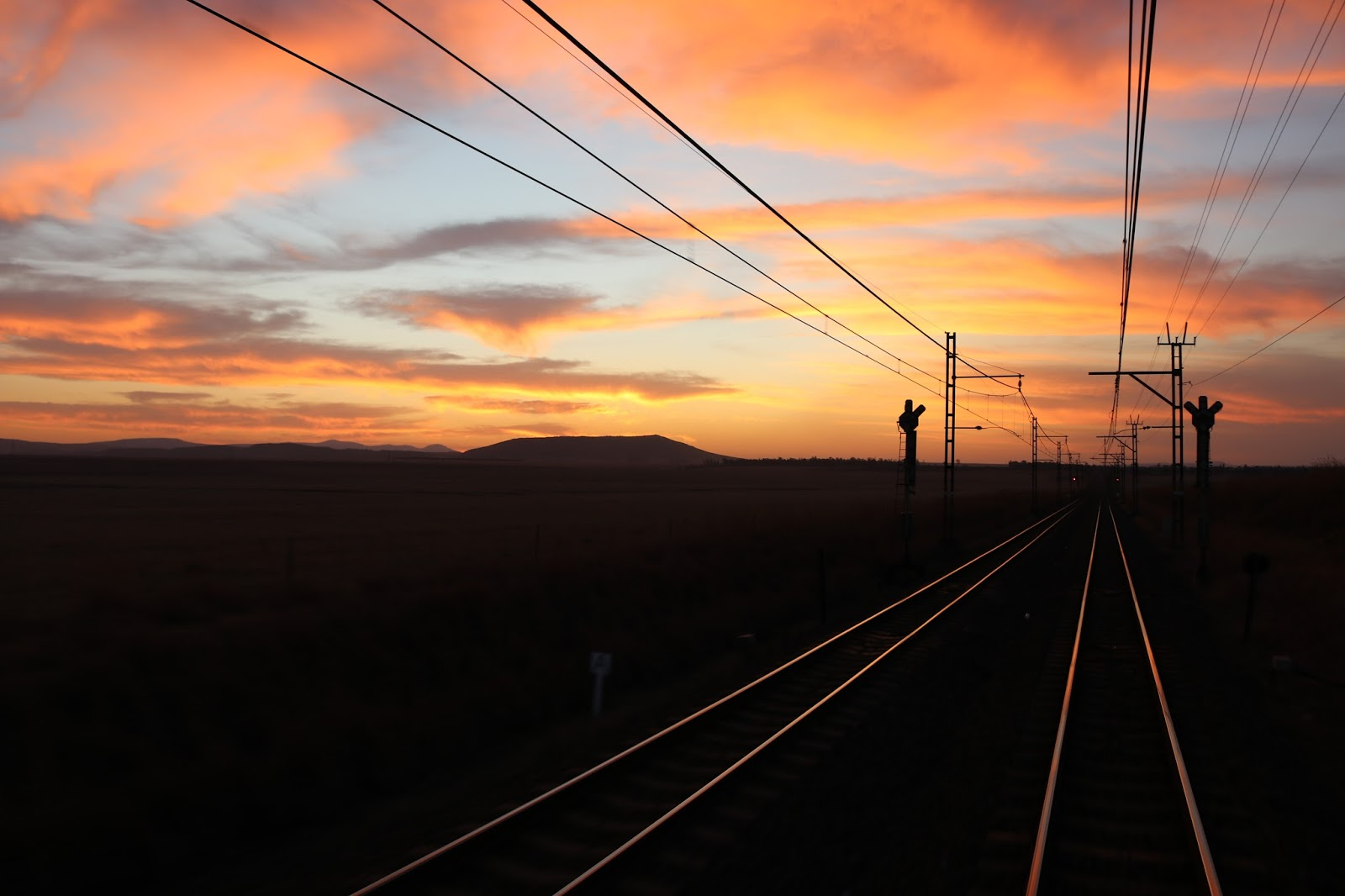 Rovos Rail, Pretoria to Durban, Train against African Savannah