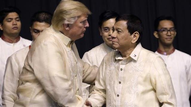 US President Donald Trump, Rodrigo Duterte meet in Manila amid anti-US protests
