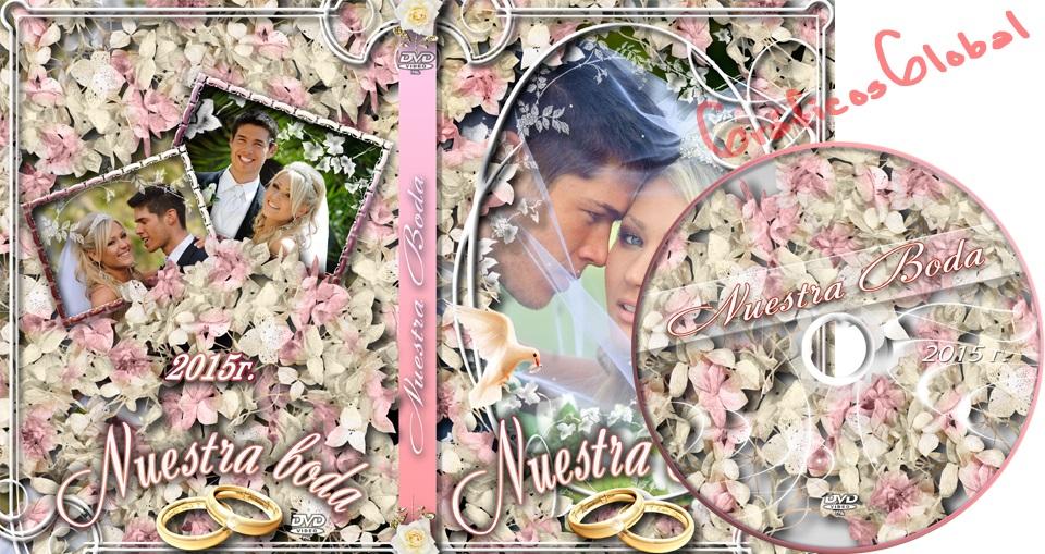 Portada DVD Bodas editable plantilla psd