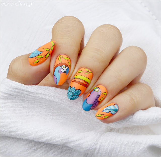 tropikalne paznokcie