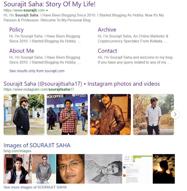 Sourajit Saha On Bing